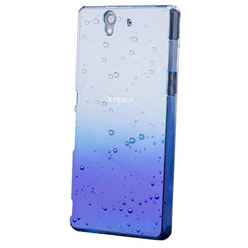 iCues Sony Xperia Z Water Drop Cover - Blau - Täuschend echtes Wassertropfen Design + Displayschutzfolie
