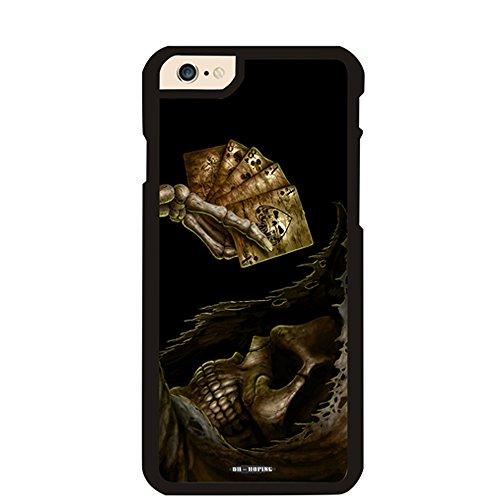 iPhone 6Plus Case, dh-Hoping (TM) Handy Schutzhülle für iPhone 6Plus 14cm High impackt Combo Hybrid Hard PC & Metall Aluminium Schutzhülle mit luxuriöser Muster The Skull Hybrid-combo