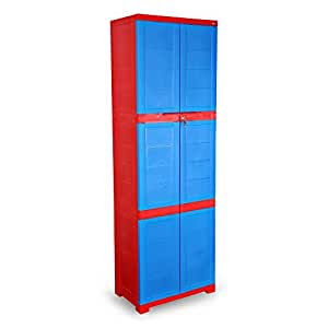Cello Novelty Large Cupboard - Red and Blue