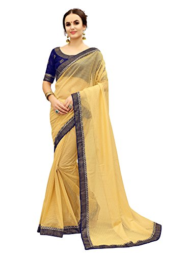 Glory Sarees Women\'s Net Saree(fancy101navy_blue)