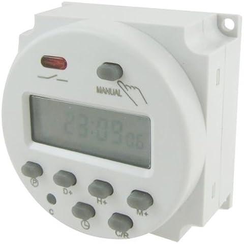 SODIAL (R) Temporizzatore interruttore del rele' DC 12V LCD Digitale programmabile (Relè Interruttore)