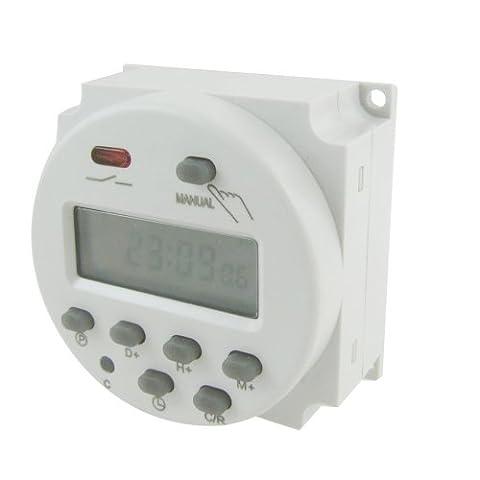 SODIAL(R) 12V DC minuterie programmable digitale LCD 16A (Relè Interruttore)