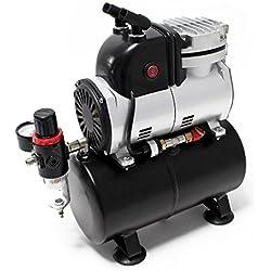 WilTec Compresseur Aérographe AF189 réservoir régulateur séparateur d'eau Pressure Reducer