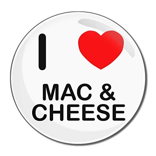 I Love Mac N Cheese - Miroir compact rond de 55 mm