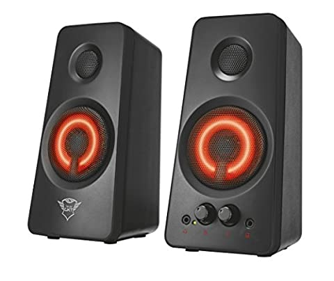 Trust Gaming 21202 GXT 608 2.0 PC Gaming Speakers Illuminated for Computer and Laptop, 36 W, USB Powered - Black