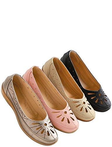 Slip Confort Chaussures Dames Rose