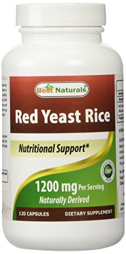 Best Naturals, Red Yeast Rice, 600 mg capsules, 120 Capsules, 2 capsules per serving/1200mg per serving Test