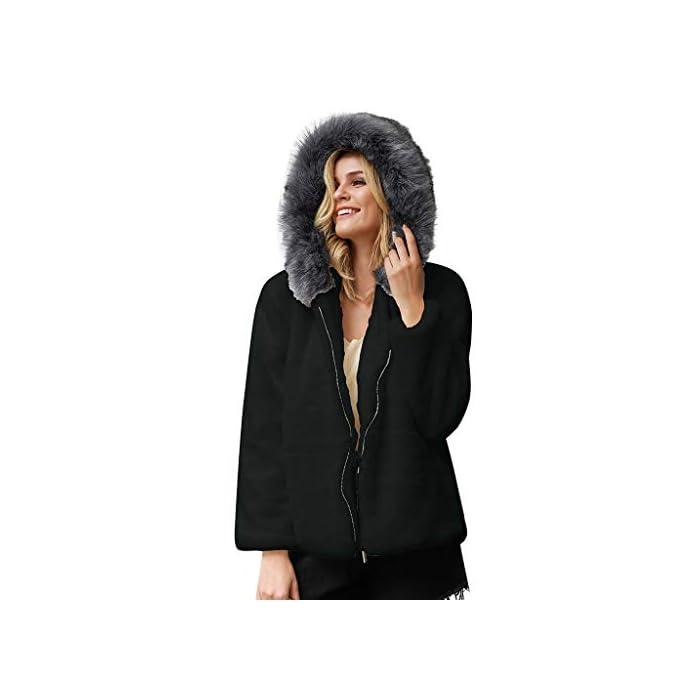URSING Damen Mantel Plüschjacke Cardigan Fashion Winter Winterjacke Steppjacke Warmen Outwear Kunstpelzmantel Fleece…