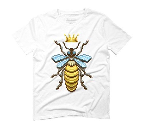 Queen Bee (Pixel) Men's Graphic T-Shirt - Design By Humans White