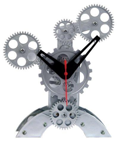 Ahorn 's 8von 25,4cm Abstrakt Design beweglichen Gear Tisch Uhr - Clock Atomic Radio Digitale