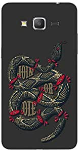 Timpax Light Weight Hard Back Case Cover Printed Design : A broken snake.For Samsung Galaxy Grand 2 Duos ( SM-G7106 )