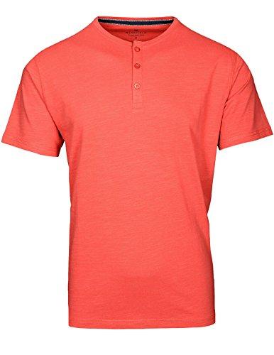 Basefield Herren Serafino Shirt - Faded Indigo (219010565) 403 HEATHER CORAL
