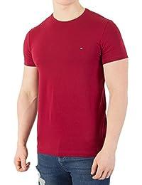 Tommy Hilfiger Men's Stretch Slim Fit T-Shirt, Red