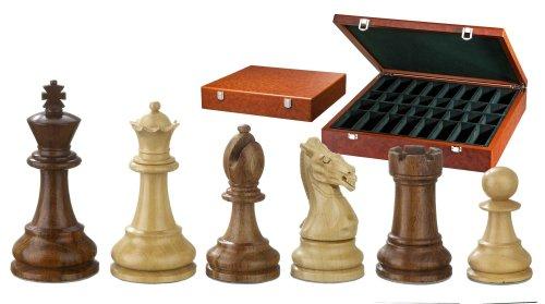 Philos 2255 - Schachfiguren Karl der Große, Königshöhe 95 mm, extra schwer gewichtet, in Figurenbox