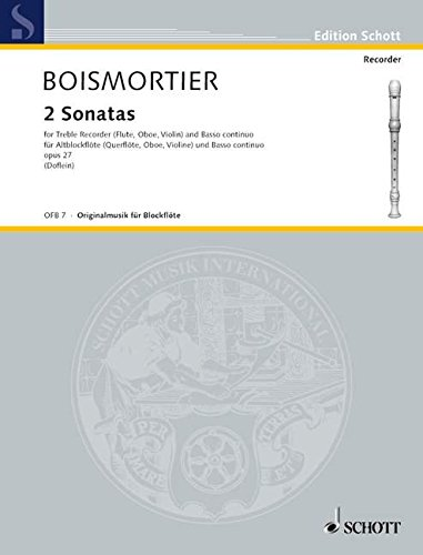 Sonates (2) Op.27 Do Maj.-Sol Maj. - FlA/Bc