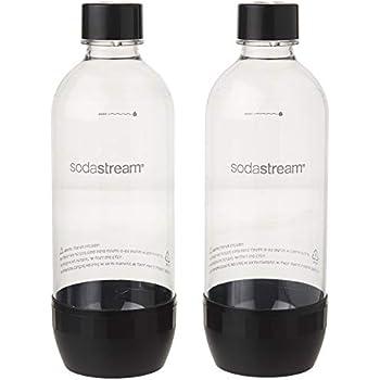SodaStream DuoPack Ersatzflaschen für alle gängigen Sodastream Wassersprudler mit Kunststoff-Flaschen mit Schraubgewinde, 2x 1 L PET-Flasche