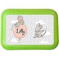 wolga-kreativ Brotdose Lunchbox mit Name Maus Luftballon und Wunschname mit Trennsteg Viele Motive preisvergleich bei kinderzimmerdekopreise.eu