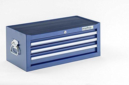 Werkzeugkiste, Aufsatz, 3 Schubladen, blau
