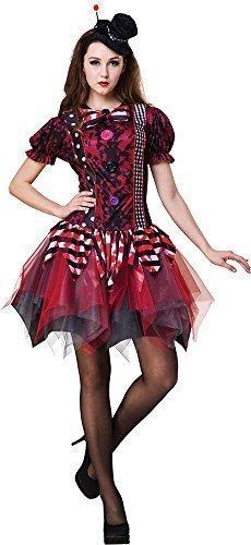 y Quinn Zirkus Verkleidung Kostümparty Horror Clown Kostüm (Harley Quinn Clown Kostüme)