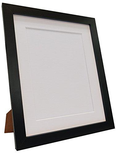 Frames by Post Q7 Bilderrahmen mit Passepartout in Weiß, Schwarz, Elfenbein, Rosa, Blau, Hellgrau und Dunkelgrau, Plastik, White Mount, 30 x 20 inch Image Size A2 (Plastic Glass)