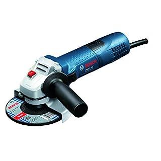 Bosch Professional Winkelschleifer GWS 7-115, Scheiben-Durchmesser 115 mm, 720 W mit Wiederanlaufschutz, Karton, 1 Stück, 0601388106