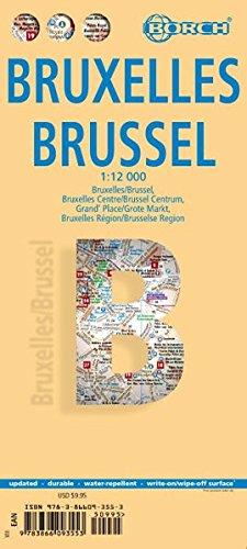 Bruselas, plano callejero plastificado. Escala 1:12.000. Borch. por VV.AA.