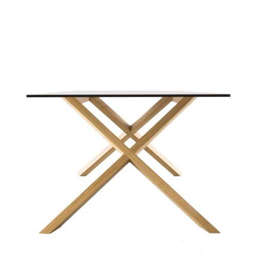 Conmoto X-MAN Tisch, CCL weiß / weiße Kante / Eiche, H 72 | B 240 | T 100 cm