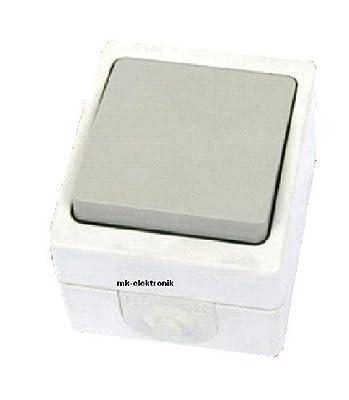 Feuchtraum Wechselschalter einfach IP54 Schalter Aufputz von MKV bei Lampenhans.de