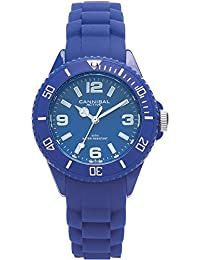 Cannibal Kid's Quartz Watch with Blue Dial Analogue Display and Blue Silicone Strap CK215-05