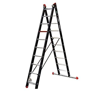 Altrex 0000400Aluminium Ladder for Industrial Use, Mounter, Number of Steps: 2x 8
