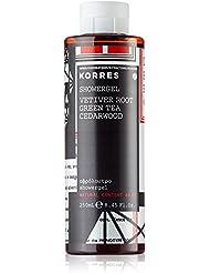 Korres Vetiver Root / Green Tea / Cedarwood Parfümiertes, feuchtigkeitsspendendes Duschgel, 1er Pack (1 x 250 ml)