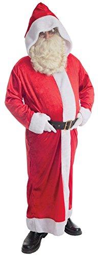 Santa Classic Kostüm - Nikolaus Santa Mantel Kostüm Classic-Einheitsgröße (M-XL)