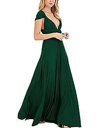 Lover-Beauty Vestido Largo Mujer para Noche y Fiesta Casual Algodón Ropa Top Falda Espalada