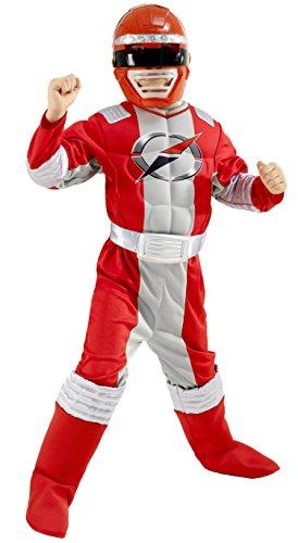 POWER RANGERS Kostüm - rot Muskel Chest Gr. S 3-4 Jahre Jungen RUBIES ArtNr ()