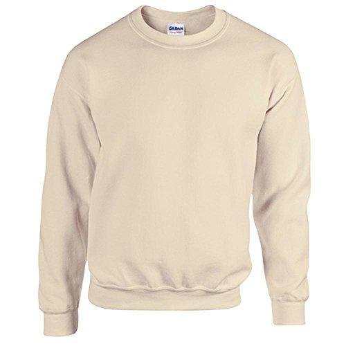 Gildan Heavy Blend Erwachsenen Crewneck Sweatshirt 18000 L, Sand - Heavy Blend Crewneck Sweatshirt