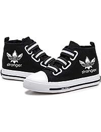 Njhfgkjrlf Stranger Things Zapatos Pies Ligeros no estirado Zapatos Planos de Velcro Alto-Top Zapatos Zapatos for niños Zapatos de la Zapatilla niños y niñas