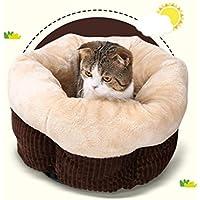 DAN Cama de Gato Que se calienta Caliente Cama de Dormir Que se calienta para Gatos