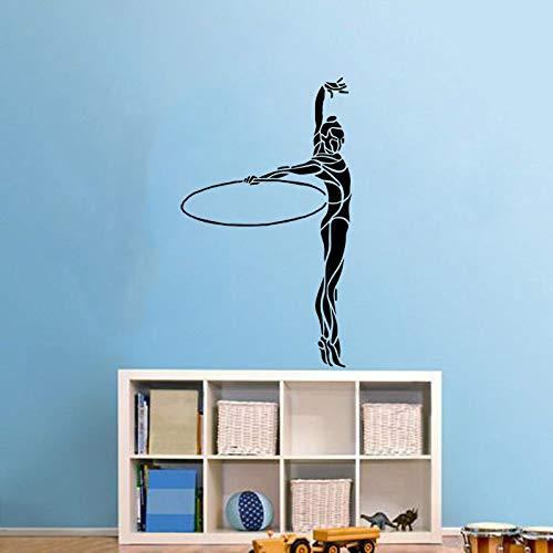 40 CM * 68,1 CM Mode Gymnastik Wandaufkleber PVC Wohnzimmer Das Schlafzimmer Dekoration Grafik (Hp Grafik-karten Für)