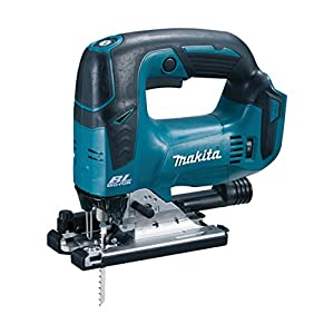 Makita DJV142Z Brushless Jigsaw, 14.4 V, Blue, Set of 5 Pieces