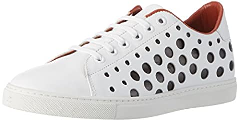 Liebeskind Berlin Lf173320 Calf, Sneakers Basses femme - Blanc - Weiß (ivory White), Taille 38