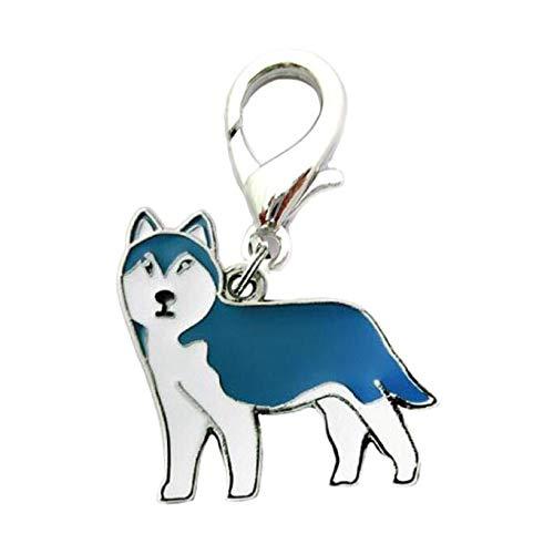 axuanyasi Dog ID Tag Dog Keychain,Cute pet Metal Keychain Keyring Dog ID Tags (Alaskan Malamute)