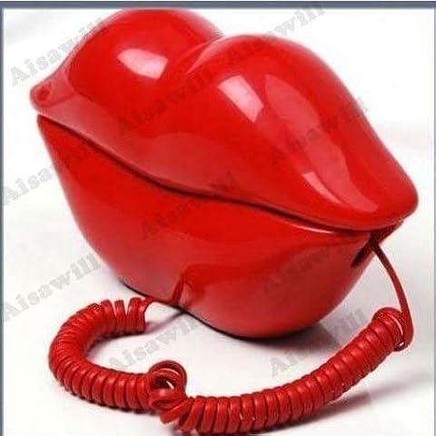 Asiawill Novelty Rosso Bacio sexy labbra Design scrivania di casa cablata per Casa telefono