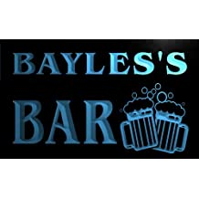 w010056-b BAYLES'S Nom Accueil Bar Pub Beer Mugs Cheers Neon Sign Biere Enseigne Lumineuse