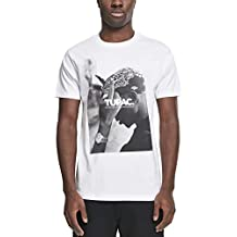 11fee4afa Mister Tee - Camiseta - Manga Corta - para Hombre Blanco Blanco Talla L