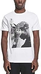 Mister Tee Herren T Shirt Kurzarm 2Pac F*ck The World, White, S, MT315-00220-0051