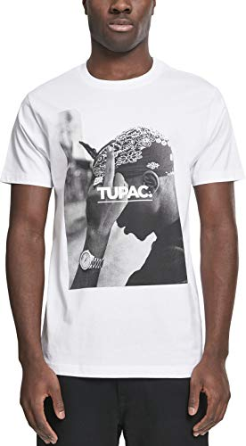Mister Tee Herren T Shirt Kurzarm 2Pac F*ck The World, White, S, MT315-00220-0051 -