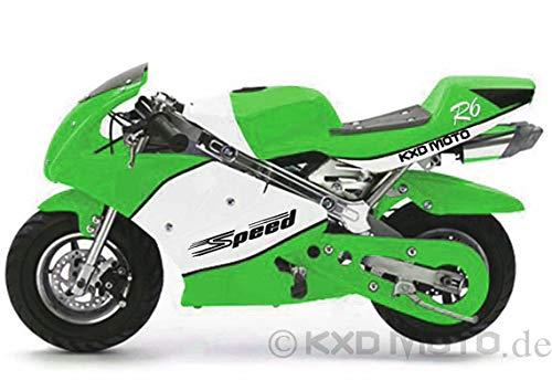 KXDMOTO Pocket Bike Cross Bike Motor Bike 50 cc Modell 008 Speed Neuheit 2019 OVP (Grün-Weiß)
