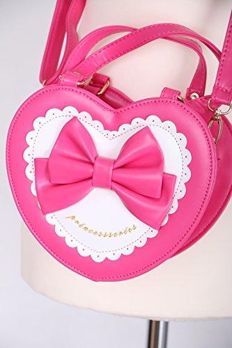 LB-615 pink Tasche Herz Handtasche Kunstleder Lolita Gothic Japan süß Harajuku (Lolita Gothic Handtasche)