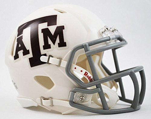 Riddell NCAA Texas A & M Aggies weiß Revolution Speed Helm