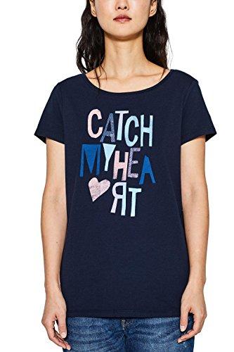 ESPRIT Damen T-Shirt Mehrfarbig (Navy 2 401)